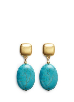 Main View - Click To Enlarge - Kenneth Jay Lane - Marbled stone drop earrings