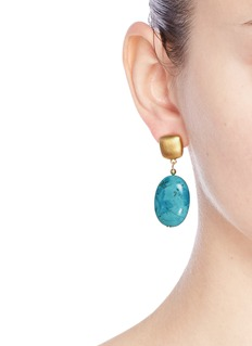Kenneth Jay Lane Marbled stone drop earrings