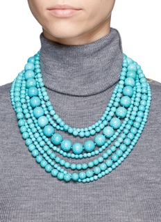 Kenneth Jay LaneMulti strand marbled bead necklace