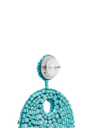 Detail View - Click To Enlarge - Kenneth Jay Lane - Beaded gypsy hoop earrings