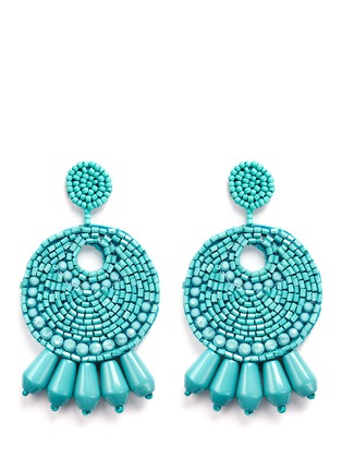 Main View - Click To Enlarge - Kenneth Jay Lane - Beaded gypsy hoop earrings
