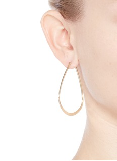 Kenneth Jay Lane Triangle frame hoop earrings