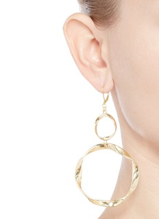 Kenneth Jay Lane Swirl circle drop earrings