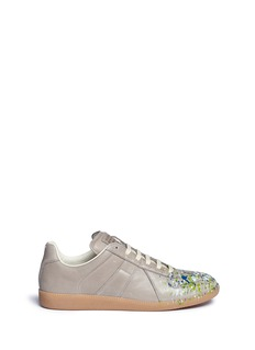 Maison Margiela'Replica' paint splash leather sneakers