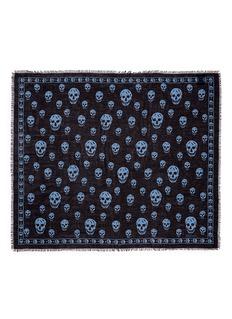 Alexander McQueenClassic skull print modal-silk scarf