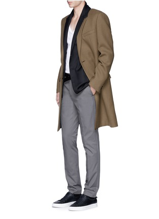 Figure View - Click To Enlarge - Lanvin - Slim fit ribbon stripe chinos