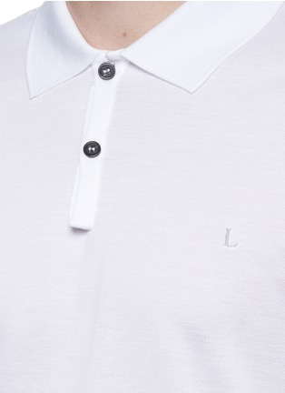 Detail View - Click To Enlarge - Lanvin - Slim fit reverse seam polo shirt