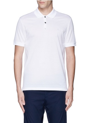 Main View - Click To Enlarge - Lanvin - Slim fit reverse seam polo shirt