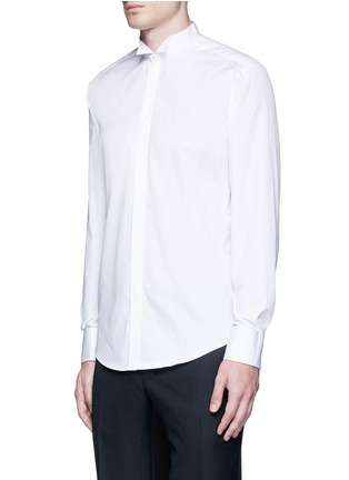 Front View - Click To Enlarge - Lanvin - Wingtip collar tuxedo shirt
