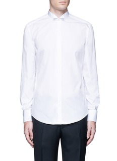 LanvinWingtip collar tuxedo shirt