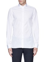 Slim fit grosgrain collar shirt