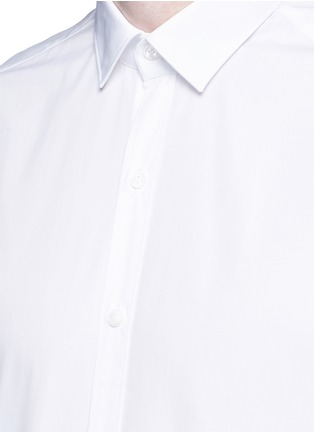 Detail View - Click To Enlarge - Lanvin - 'Evolutive' slim fit cotton shirt