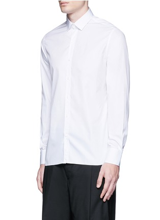 Front View - Click To Enlarge - Lanvin - 'Evolutive' slim fit cotton shirt