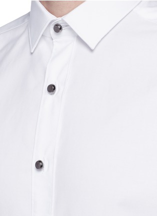 Detail View - Click To Enlarge - Lanvin - Metal button tuxedo shirt
