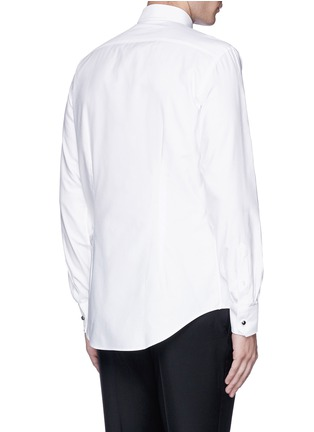 Back View - Click To Enlarge - Lanvin - Metal button tuxedo shirt
