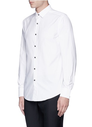 Front View - Click To Enlarge - Lanvin - Metal button tuxedo shirt