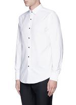 Metal button tuxedo shirt
