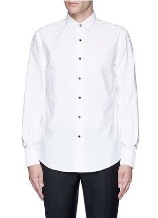 Main View - Click To Enlarge - Lanvin - Metal button tuxedo shirt