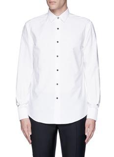 LanvinMetal button tuxedo shirt