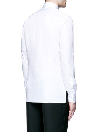 Back View - Click To Enlarge - Lanvin - Slim fit collar trim tuxedo shirt