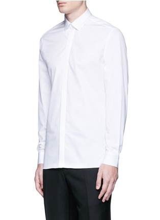 Front View - Click To Enlarge - Lanvin - Slim fit collar trim tuxedo shirt