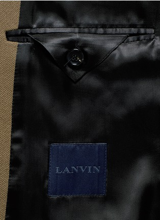 - Lanvin - Slim fit contrast collar wool coat