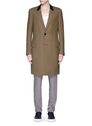 Main View - Click To Enlarge - Lanvin - Slim fit contrast collar wool coat