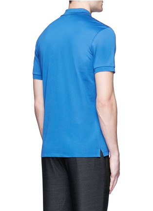 Back View - Click To Enlarge - Lanvin - Slim fit reverse seam polo shirt