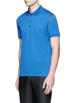 Front View - Click To Enlarge - Lanvin - Slim fit reverse seam polo shirt