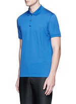 Slim fit reverse seam polo shirt