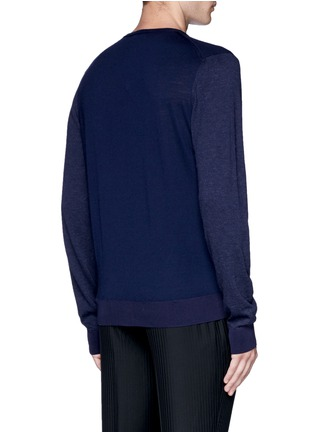 Back View - Click To Enlarge - Lanvin - Mixed media sweater