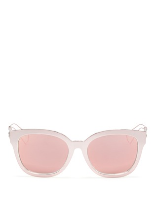 Main View - Click To Enlarge - Dior - 'Diorama 1' metal openwork temple mirror sunglasses