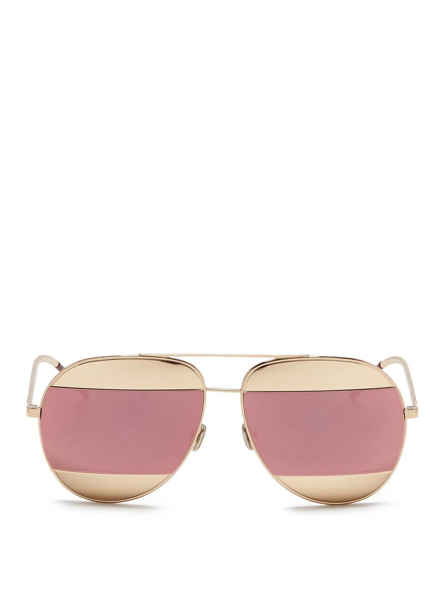 Dior Split inset metal aviator mirror sunglasses by Dior