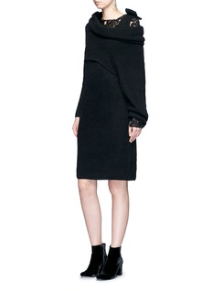 TOGA ARCHIVES Detachable overlay wool knit dress