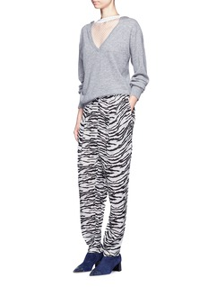 TOGA ARCHIVES Leopard print pleated drawstring pants