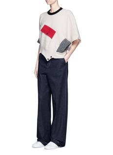 TOGA ARCHIVESColourblock rib knit cape top