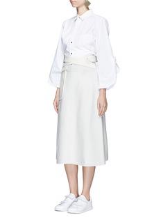 TOGA ARCHIVESCrisscross belt wool blend skirt