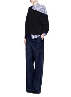 TOGA ARCHIVESFlared cuff London stripe poplin shirt
