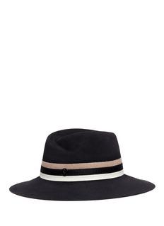 Maison Michel'Virginie' fabric band rabbit furfelt fedora hat