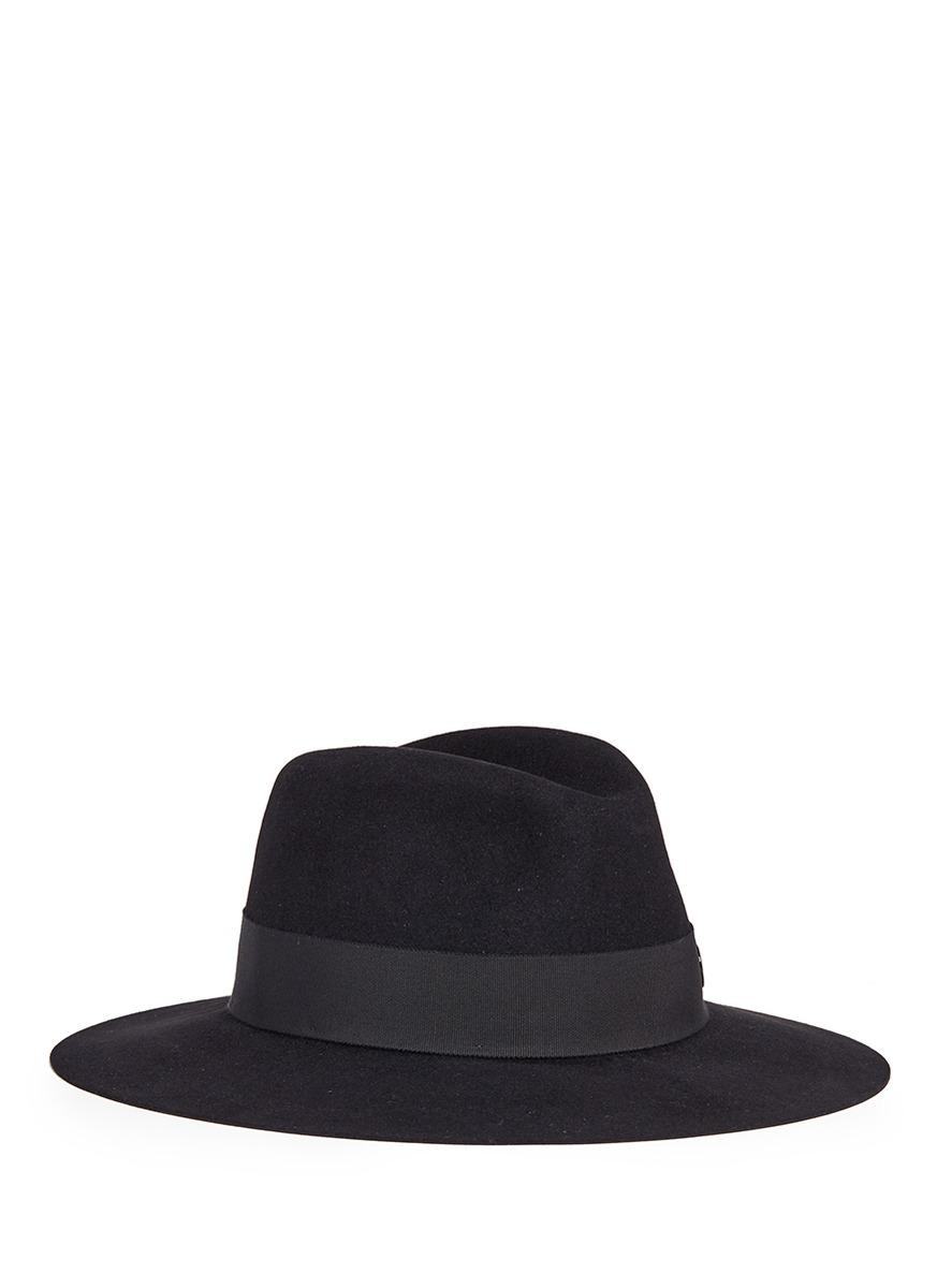 maison michel female henrietta rabbit furfelt fedora hat