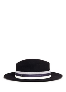 Maison Michel'Kiki' mix band furfelt hat
