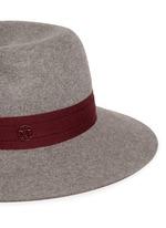 'Virginie' logo herringbone band rabbit furfelt hat