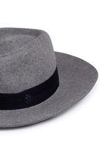 'Charles' logo herringbone band rabbit furfelt hat