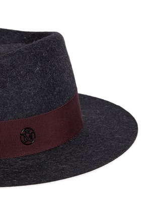 Detail View - Click To Enlarge - Maison Michel - 'Andre' rabbit furfelt trilby hat