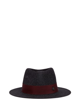 Main View - Click To Enlarge - Maison Michel - 'Andre' rabbit furfelt trilby hat