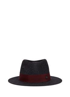 Maison Michel'Andre' rabbit furfelt trilby hat