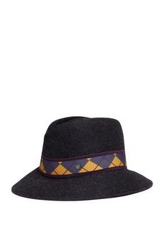 Maison Michel'Tyler' diamond band rabbit furfelt fedora hat