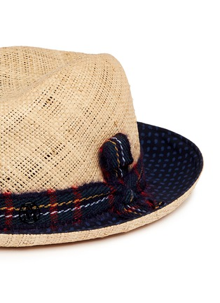 Detail View - Click To Enlarge - Maison Michel - 'Joseph' paisley print brim straw hat