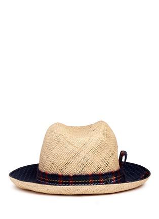 Maison Michel-'Joseph' paisley print brim straw hat