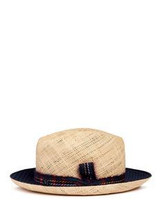 Maison Michel'Joseph' paisley print brim straw hat
